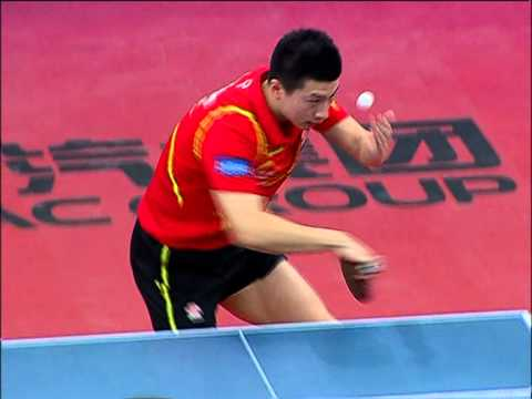 Ma Long - reverse backhand serve