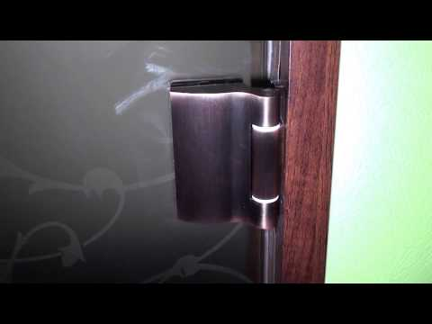 Стеклянная бронзовая матовая дверь
