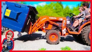 Tractor Videos For Children - Taking Out the Garbage