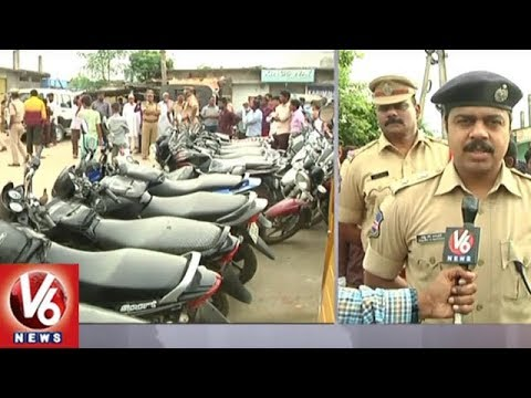 Police Conducts Cordon Search Operation In Khanapur Colony, Adilabad | Seizes 26 Vehicles | V6 News