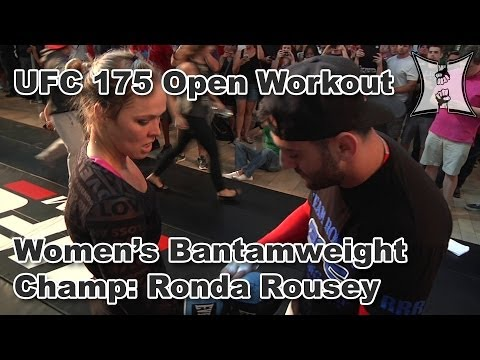 UFC 175's Ronda Rousey Entertains Fans with Judo Throws and Powerful Pad Work Image 1