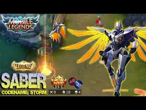 Mobile Legends - New Legend Skin Saber Codename: Storm Gameplay and Build [MVP]