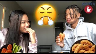 ZAXBYS MUKBANG WITH MY LITTLE SISTER (SHE TOLD ME ABOUT HER BOYFRIEND)