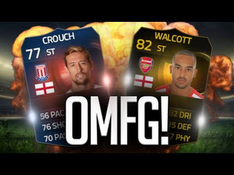 FIFA 15 - STRIKER THEO WALCOTT + RECORD BREAKER CROUCH CHALLENGE - FIFA 15 ULTIMATE TEAM
