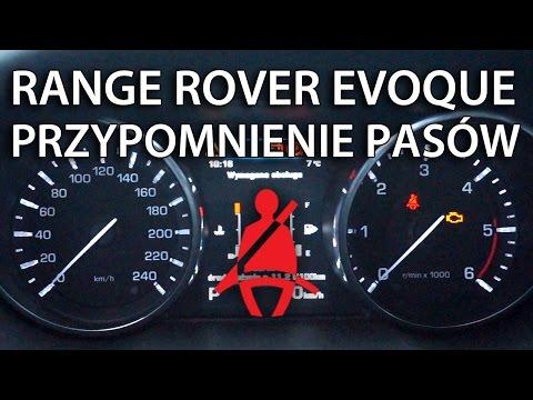 Jak wyłączyć przypomnienie pasów w Range Rover Evoque (Land Rover)