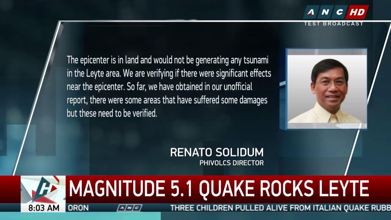 Magnitude 5.1 quake rocks Leyte