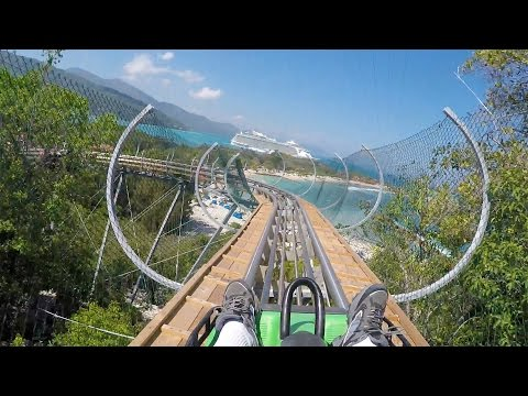 Dragons Tail AWESOME Alpine Roller Coaster POV 60 FPS Labadee Haiti Royal Caribbean
