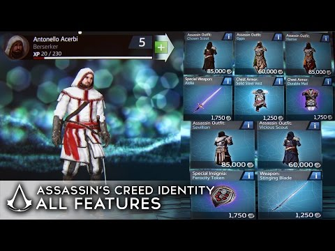 Assassin's Creed Identity - All Outfits/Items/Features so Far (SHOWCASE)