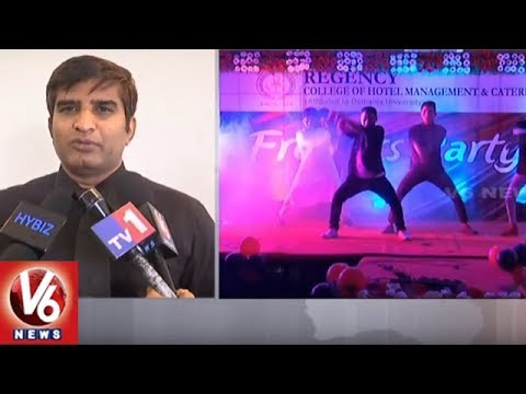 Regency College Of Hotel Management Students Grandly Celebrated Freshers Party | Hyderabad | V6 News