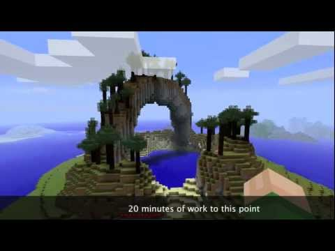 Minecraft World Edit Tutorial - The Quarry (Land Masses)