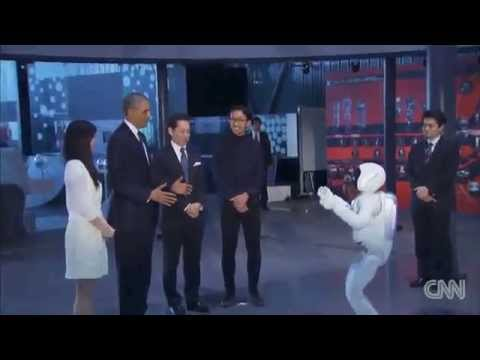 (HD) WOW – President Obama Interacts with a Humanoid Robot