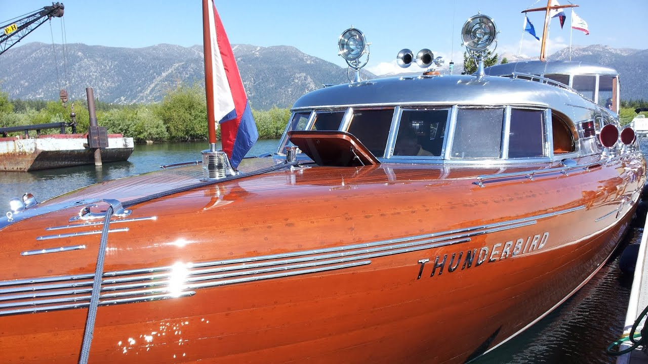 South Tahoe Antique Wooden Boat Classic - YouTube
