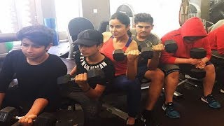 Katrina Kaif WORKS OUT with Salman Khan's nephews