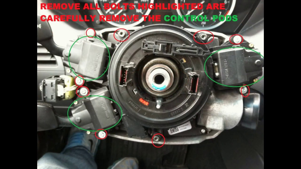 Removal Replacement Of Bmw E63 E64 645ci Steering Angle
