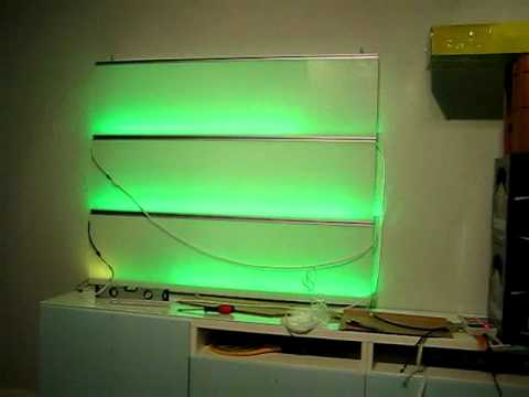 test der neuen dream color led strips im wandpaneel youtube. Black Bedroom Furniture Sets. Home Design Ideas