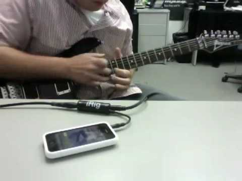 Me Playing Joe Satriani with iRig on my iPhone
