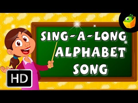 Karaoke: The Alphabet Song - Songs With Lyrics - Cartoon animated Rhymes For Kids video