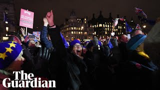 Parliament Square cheers as Theresa May suffers Brexit deal defeat