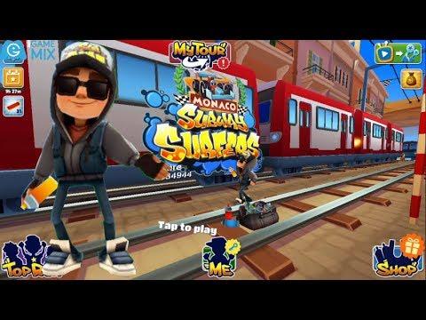 iGameMix/Subway Surfers MONACO FULLSCREEN 2018*Jake Dark Outfit & 1 Save Me*Gameplay For Kid #3