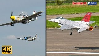 WW2 WARBIRDS and FAST TURBINE JETS CLOSE FORMATION DISPLAY [*UltraHD and 4K*] (BMFA NATS 2017)