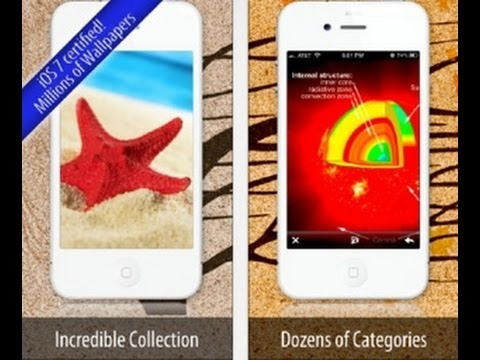 Wallpapers iOS 7 edition iPhone App Review Video