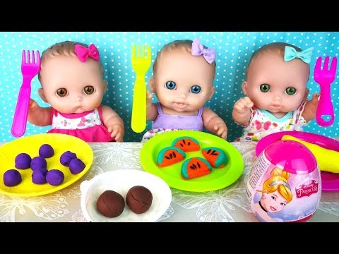 Куклы Пупсики Кушают Открывают Сюрприз Яйцо Принцессы Дисней Игрушки Для девочек