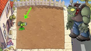 1 Gatling Pea vs Gargantuar vs Giga-Gargantuar Hack Plants vs Zombies