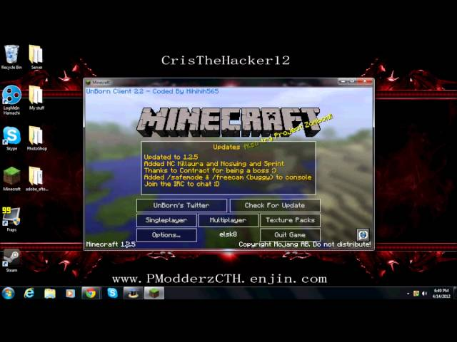 ★ Minecraft 1.2.5 Unborn Client Hack + Download ★
