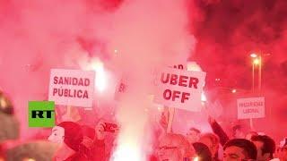 download musica España: Protesta contra Uber en Barcelona