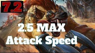 [PBE:7.2] 2.5 Attack Speed Warwick (Rework)