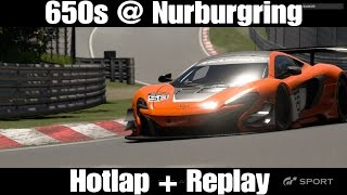 GT Sport Gameplay McLaren 650s Nurburgring Nordschleife Hotlap + Replay