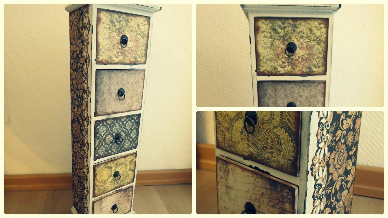 Vintage Style Möbel Selber Machen ~ Möbel umgestalten  Vintage  Holzschränkchen  YouTube