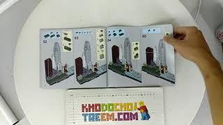 Hướng dẫn lắp ráp Lepin 17014 Lego Architecture 21043 San Francisco giá sốc rẻ nhất