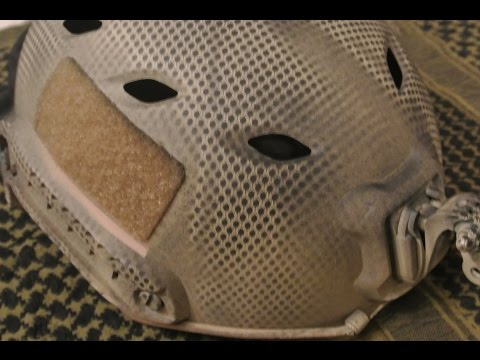 Airsoft How to: Spray Paint Snake Skin on a Helmet
