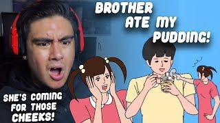 IF SHE FINDS ME, SHE'S GONNA WHOOP MY CHEEKS | Brother Ate My Pudding