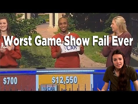 Epic Fail - Million Dollar Loser On Wheel Of Fortune - Soren's Playlist