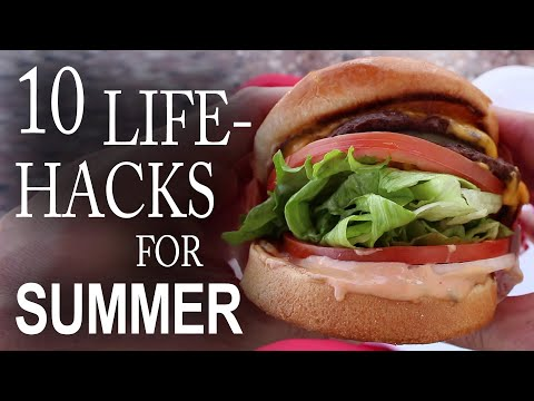10 Life Hacks You Need To Know For Summer! klip izle