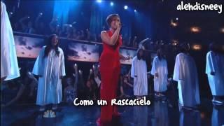 Demi Lovato - Skyscraper ft Rascacielos ALMA 2011 Awards (lyrics video) HD