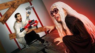 NERF Escape Granny's House Challenge!