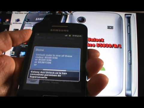 Unlock (Desbloquear) - Galaxy Ace S5830/B/L (EspañolMX)