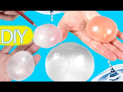 DIY globos de agua o gotas de lluvia con pegamento. Experimentos fáciles | Ideas FACILES DIY