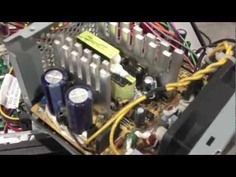 Computer Power Supply Repair - DEAD bad capacitor No / Flashing Green Light