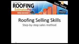 Roofing Sales Training - Roofing Selling Skills