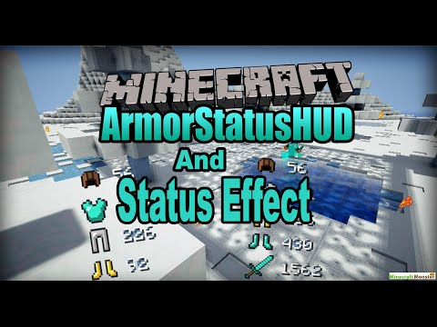 Minecraft 1.7.10 - How To Install Armor HUD & Status Effect HUD