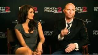 ET Canada Death Race 2 Tanit Phoenix and Luke Goss