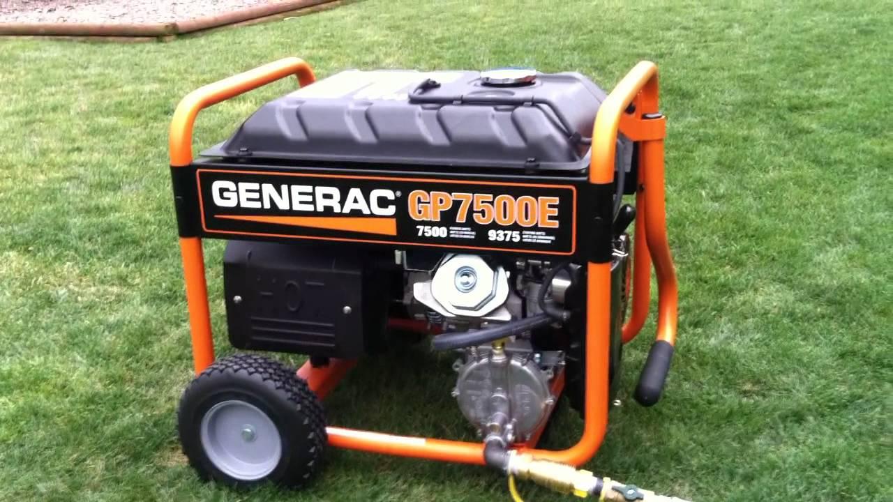 Generac Gp7500e Natural Gas Conversion Youtube
