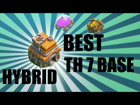 BEST Clash of Clans Townhall 7 Defense Base Layout/Design (Hybrid)
