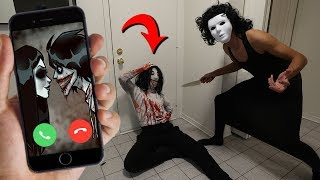 CALLING JANE AND JEFF THE KILLER ON FACETIME AT SAME TIME AT 3 AM!! (YOU WON'T BELIEVE THIS)