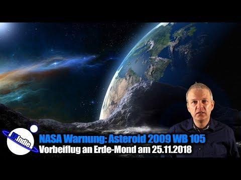 NASA Warnung: Asteroid 2009 WB 105 - Vorbeiflug am 25.11.2018