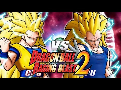 Dragon Ball Z Raging Blast 2 - SSJ3 Goku Vs. SSJ3 Vegeta (DBZ Battle Of Z Character Roster!)